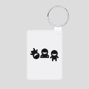 Like a Ninja Aluminum Photo Keychain