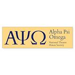 Alpha Psi Omega Sticker (Bumper)