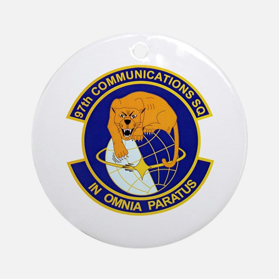97th Communications Ornament (Round)