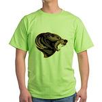 angry bear Green T-Shirt