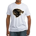 angry bear Fitted T-Shirt