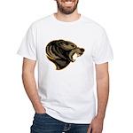 angry bear White T-Shirt