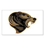 angry bear Sticker (Rectangle 50 pk)