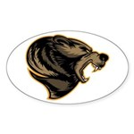 angry bear Sticker (Oval)