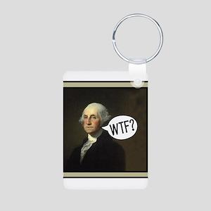 George WTF Aluminum Photo Keychain