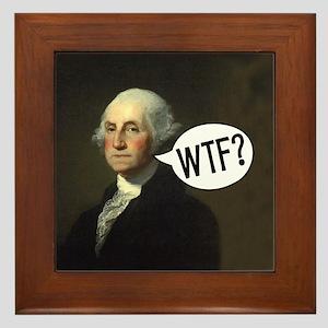 George WTF Framed Tile