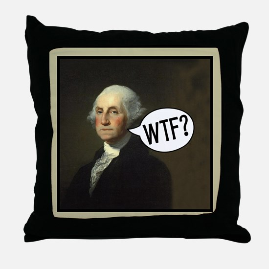 George WTF Throw Pillow