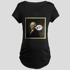 George WTF Maternity Dark T-Shirt