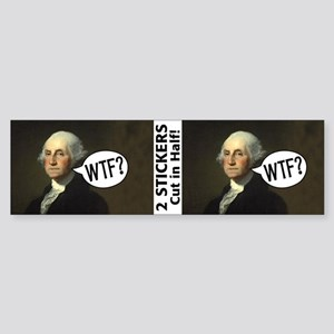 George WTF Sticker (Bumper)
