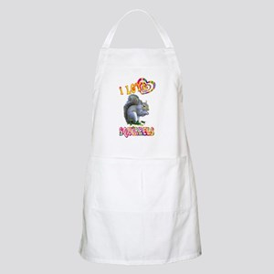 I Love Squirrels Apron