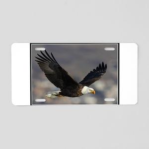 Eagle Wings Aluminum License Plate