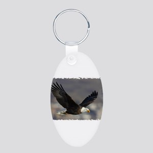 Eagle Wings Aluminum Oval Keychain