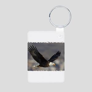 Eagle Wings Aluminum Photo Keychain
