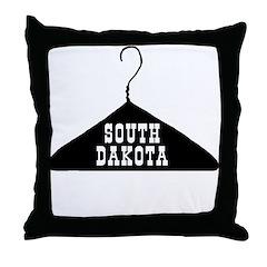 South Dakota - The Hanger State Throw Pillow