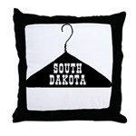 South Dakota - The Hanger State Throw Pillow