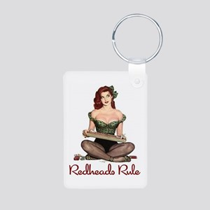 Redheads Rule Aluminum Photo Keychain