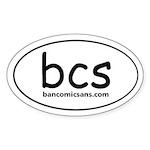 ban comic sans Oval Sticker
