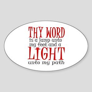 Psalm 119:105 Sticker (Oval)