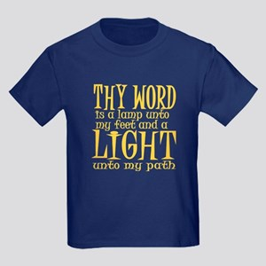 Psalm 119:105 Kids Dark T-Shirt
