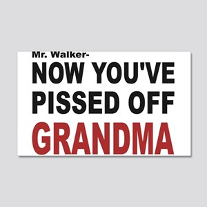 pissed off grandma 22x14 Wall Peel