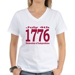1776 - Independence Day Women's V-Neck T-Shirt