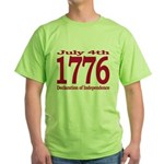 1776 - Independence Day Green T-Shirt