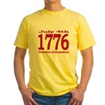 1776 - Independence Day Yellow T-Shirt