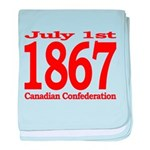 1867 - Canadian Confederation baby blanket