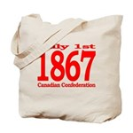 1867 - Canadian Confederation Tote Bag