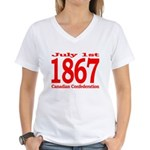 1867 - Canadian Confederation Women's V-Neck T-Shi
