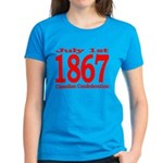 1867 - Canadian Confederation Women's Dark T-Shirt