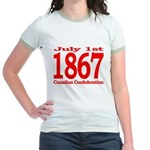 1867 - Canadian Confederation Jr. Ringer T-Shirt
