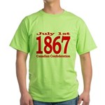 1867 - Canadian Confederation Green T-Shirt