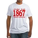 1867 - Canadian Confederation Fitted T-Shirt