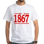 1867 - Canadian Confederation White T-Shirt