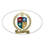TALBOT Family Crest Oval Sticker