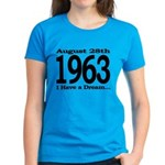 1963 - I Have a Dream Women's Dark T-Shirt
