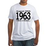1963 - I Have a Dream Fitted T-Shirt