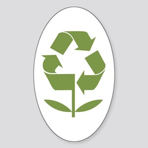 Recycle Flower Sticker (Oval)
