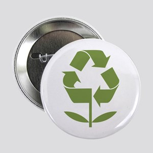 "Recycle Flower 2.25"" Button"