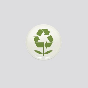 Recycle Flower Mini Button