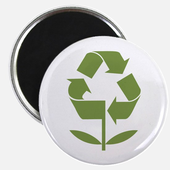 "Recycle Flower 2.25"" Magnet (100 pack)"
