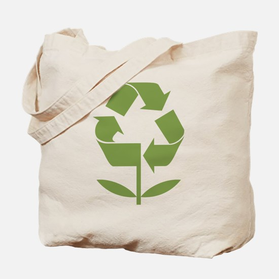 Recycle Flower Tote Bag