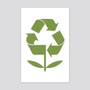 Recycle Flower Mini Poster Print