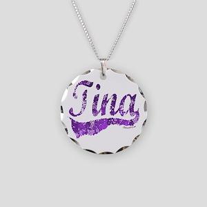 TINA Necklace Circle Charm