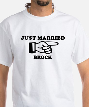 Just Married Brock White T-Shirt