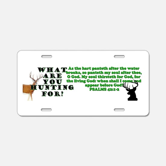 As the Deer Aluminum License Plate