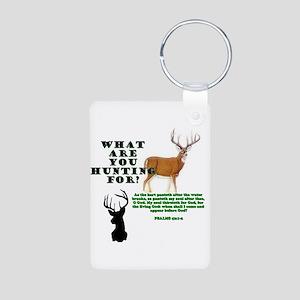 As the Deer Aluminum Photo Keychain