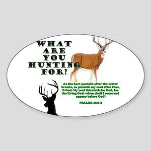 As the Deer Sticker (Oval)
