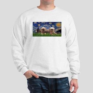 Starry / 2 Affenpinschers Sweatshirt